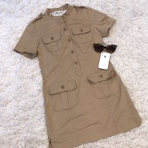 Trina Trunk Khaki Utility Dress